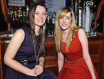 Helen Madden and leanne Kirwan enjoying the new year celebrations at McPhail's. Photo: Colin Bell/pressphotos.ie