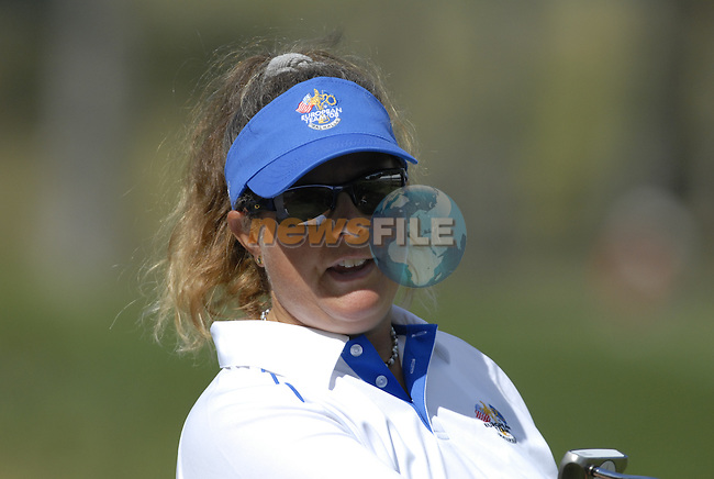European Team member Henrik Stenson's caddy Fanny on the 13th green during Practice Day1 of the 37th Ryder Cup at Valhalla Golf Club, Louisville, Kentucky, USA, 17th September 2008 (Photo by Eoin Clarke/GOLFFILE)