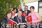 Members of Right of Place Kerry who presented Tralee Mayor Ted Fitzgerald with a copy of the five volumes of the Ryan Report at Kerry County Library on Friday front Eileen Molloy and Ted Fitzgerald..Back Geraldine Burke, Tommy O'Connor Kerry County Library, Oliver Burke, and Mary Mahony.
