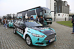 Bora-Hansgrohe at the team presentation in Antwerp before the start of the 2019 Ronde Van Vlaanderen 270km from Antwerp to Oudenaarde, Belgium. 7th April 2019.<br /> Picture: Eoin Clarke | Cyclefile<br /> <br /> All photos usage must carry mandatory copyright credit (&copy; Cyclefile | Eoin Clarke)