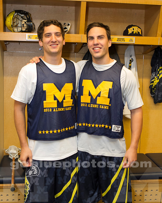 The University of Michigan men's lacrosse 2012 Alumni Game at Michigan Stadium in Ann Arbor, Mich., on October 21, 2012.