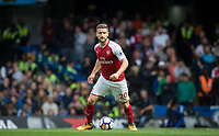 Shkodran Mustafi of Arsenal during the Premier League match between Chelsea and Arsenal at Stamford Bridge, London, England on 17 September 2017. Photo by Andy Rowland.