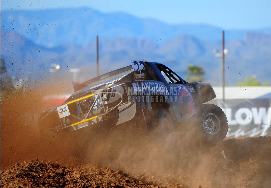 Apr 16, 2011; Surprise, AZ USA; LOORRS driver Pete Sohren (22) during round 3 at Speedworld Off Road Park. Mandatory Credit: Mark J. Rebilas-