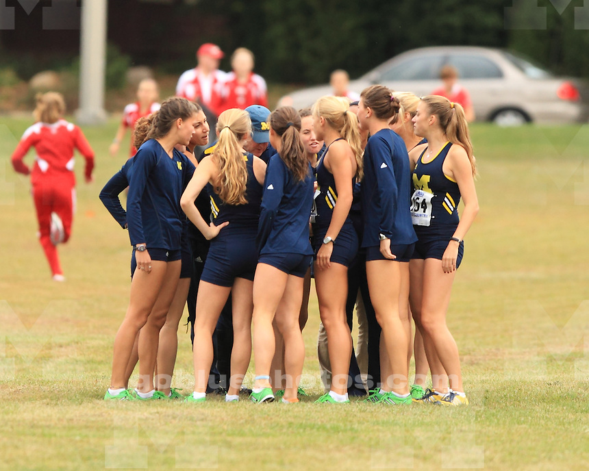 The University of Michigan women's cross country team compete against Wisconsin and Illinois in the Illinois Orange and Blue Preview in Urbana, Ill., on September 16, 2011.