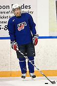 Jerry D'Amigo (USA - 29) - Team USA practiced at the Agriplace rink on Monday, December 28, 2009, in Saskatoon, Saskatchewan, during the 2010 World Juniors tournament.
