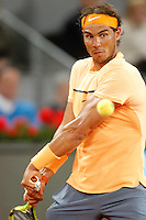 Rafael Nadal, Spain, during Madrid Open Tennis 2016 match.May, 6, 2016.(ALTERPHOTOS/Acero) /NortePhoto