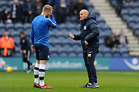 Preston North End manager Alex Neil chats to Tom Clarke of Preston North End during Preston North End vs Hull City, Sky Bet EFL Championship Football at Deepdale on 3rd February 2018