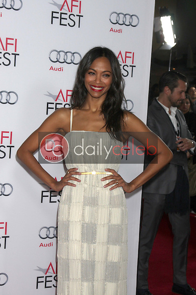 Zoe Saldana<br /> at the &quot;Out Of The Furnace&quot; Premiere as part of AFI FEST 2013, Chinese Theater, Hollywood, CA 11-09-13<br /> David Edwards/DailyCeleb.com 818-249-4998