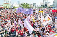 SÃO PAULO,SP, 31.07.2016 - PROTESTO-SP - Manifestantes protestam contra o presidente em exercício, Michel Temer, e em defesa da presidente afastada Dilma Rousseff, no Largo da Batata, em Pinheiros, zona oeste de São Paulo, na tarde deste domingo. (Foto: Bete Marques/Brazil Photo Press)
