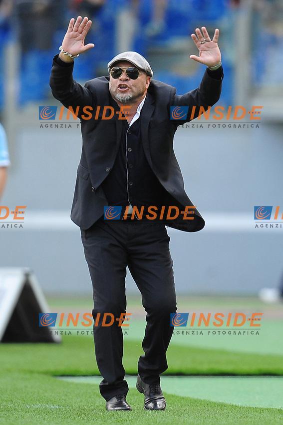 Serse Cosmi, allenatore del Lecce.Roma, 22/04/2012 Stadio Olimpico.Football Calcio 2011/2012 .Lazio vs Lecce 1-1.Campionato di calcio Serie A.Foto Insidefoto Antonietta Baldassarre