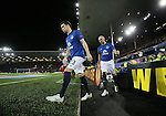 Seamus Coleman of Everton walks out onto the pitch - UEFA Europa League Round of 32 Second Leg - Everton vs Young Boys - Goodison Park Stadium - Liverpool - England - 26th February 2015 - Picture Simon Bellis/Sportimage