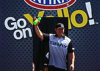Jun. 2, 2013; Englishtown, NJ, USA: NHRA pro stock driver Shane Gray during the Summer Nationals at Raceway Park. Mandatory Credit: Mark J. Rebilas-