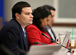 Nevada Assemblyman David Gardner, R-Las Vegas, works in committee at the Legislative Building in Carson City, Nev., on Friday, April 10, 2015. <br /> Photo by Cathleen Allison