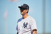 New York Yankees first baseman Greg Bird (33) during a Grapefruit League Spring Training game against the Toronto Blue Jays on February 25, 2019 at George M. Steinbrenner Field in Tampa, Florida.  Yankees defeated the Blue Jays 3-0.  (Mike Janes/Four Seam Images)