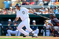 Detroit Tigers shortstop Jhonny Peralta #27 during a Spring Training game against the Atlanta Braves at Joker Marchant Stadium on February 27, 2013 in Lakeland, Florida.  Atlanta defeated Detroit 5-3.  (Mike Janes/Four Seam Images)