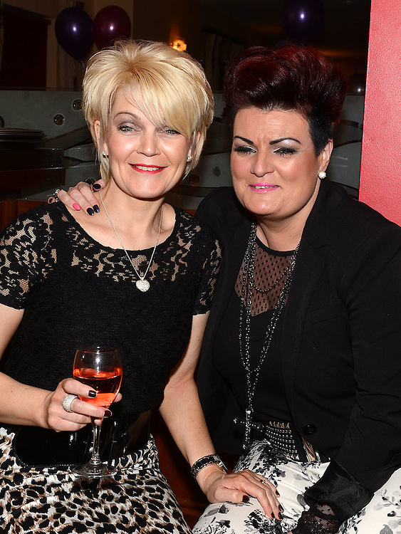 Fiona Murtagh and Elaine O'Brien pictured at Pat Donaghy's 70th birthday in Tommy Hanratty's. Photo:Colin Bell/pressphotos.ie