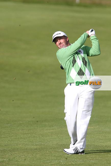 Damien McGrane (IRL) on the 2nd on Day 3 of the 2012 Irish Open at Royal Portrush Golf Club, Portrush, Co.Antrim, 30/6/12...(Photo Jenny Matthews/www.golffile.ie)