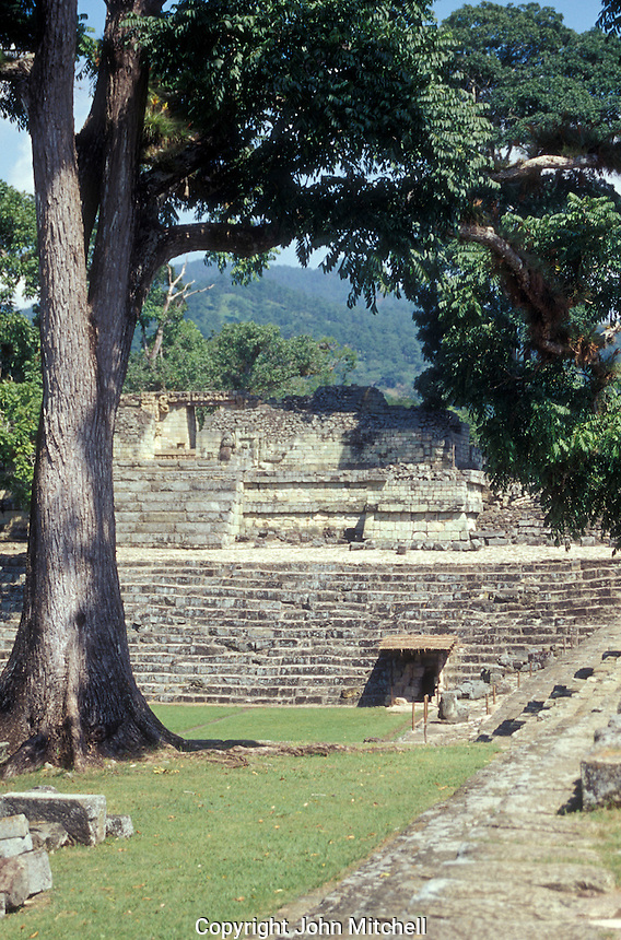 Temple 22 at the Mayan ruins of Copan, Honduras