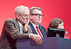 Labour Conference, Brighton, Great Britain <br /> 27th September 2015 <br /> <br /> Jeremy Corbyn <br /> Tom Watson <br /> Kezia Dugdale MSP <br /> <br /> Photograph by Elliott Franks <br /> Image licensed to Elliott Franks Photography Services