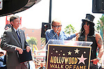 LOS ANGELES - JUL 10: Leron Gubler, Robert Evans, Slash at a ceremony where Slash is honored with the 2,473rd Star on the Hollywood Walk of Fame on July 10, 2012 in Los Angeles, California
