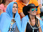 The Hague, Netherlands, June 14: Argentinian fans watch the field hockey bronze medal match (Women) between USA and Argentina on June 14, 2014 during the World Cup 2014 at Kyocera Stadium in The Hague, Netherlands. Final score 2-1 (2-1)  (Photo by Dirk Markgraf / www.265-images.com) *** Local caption ***