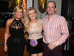 Jenny Sheard celebrating her 21st birthday in Brú with mam Sue and stepdad Colm Kerr. Photo: Colin Bell/pressphotos.ie