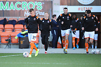 Blackpool's Calum MacDonald during the pre-match warm-up <br /> <br /> Photographer Kevin Barnes/CameraSport<br /> <br /> Emirates FA Cup Second Round - Blackpool v Maidstone United - Sunday 1st December 2019 - Bloomfield Road - Blackpool<br />  <br /> World Copyright © 2019 CameraSport. All rights reserved. 43 Linden Ave. Countesthorpe. Leicester. England. LE8 5PG - Tel: +44 (0) 116 277 4147 - admin@camerasport.com - www.camerasport.com