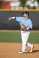 Austin Bailey #12 of the University of San Diego Toreros during a game against the Cal State Northridge Matadors at Matador Field on March 26, 2013 in Northridge, California. (Larry Goren/Four Seam Images)