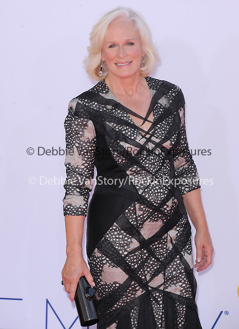 Glenn Close at The 64th Anual Primetime Emmy Awards held at Nokia Theatre L.A. Live in Los Angeles, California on September  23,2012                                                                   Copyright 2012 Hollywood Press Agency