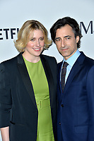 """LOS ANGELES, USA. November 06, 2019: Greta Gerwig & Noah Baumbach at the premiere for """"Marriage Story"""" at the DGA Theatre.<br /> Picture: Paul Smith/Featureflash"""