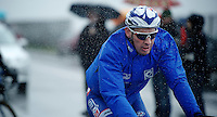 Mathieu Ladagnous (FRA/FDJ) racing in the rain<br /> <br /> 2014 Milano - San Remo