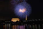 Fireworks light up the DC skyline on July 4, 2010.