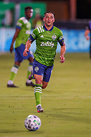 10th July 2020, Orlando, Florida, USA;  Seattle Sounders midfielder Nicolas Lodeiro (10) chases down the ball during the soccer match between the Seattle Sounders and the San Jose Earthquakes on July 10, 2020, at ESPN Wide World of Sports Complex in Orlando, FL.
