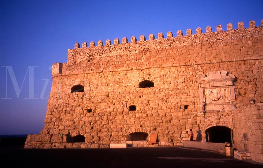 Iraklion, Crete. Greece. The 16th Century Venetian Fortress. Rocca al Mare