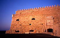 Iraklion, Crete. Greece. The 16th Century Venetian Fortress. Rocca al Mare