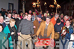 PARADE: Razor Ashmore, winner of the Boyle Sports Derby at Clonmel, is pictured with his owner Thomas O'Connor from Tarbert at a parade which was held in their honour in Ballylongford on Wednesday, February 13th.   Copyright Kerry's Eye 2008