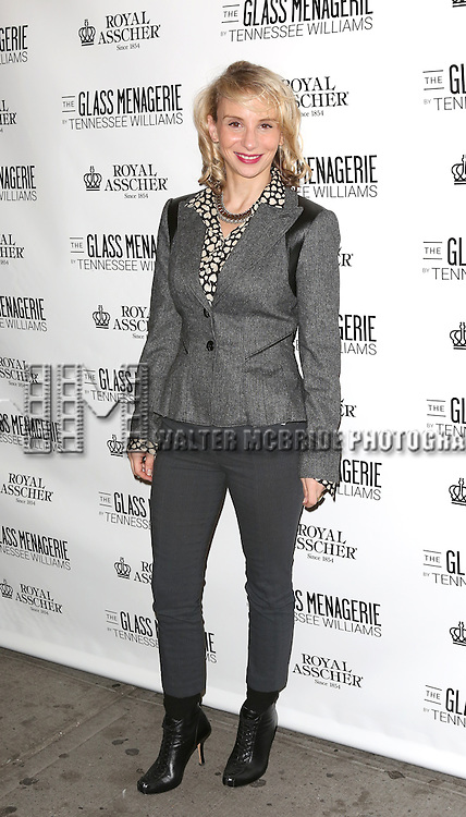 Sarah Saltzberg  attends the Broadway Opening Night Performance of 'The Glass Menagerie' at the Booth Theatre in New York City on September 16, 2013.