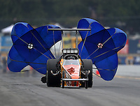 Oct 2, 2016; Mohnton, PA, USA; NHRA top alcohol dragster driver XXXX during the Dodge Nationals at Maple Grove Raceway. Mandatory Credit: Mark J. Rebilas-USA TODAY Sports