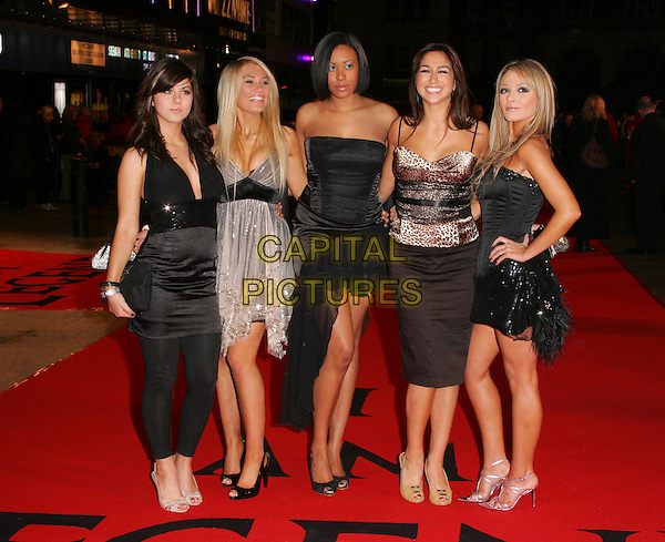 "HOPE.""I Am Legend"" UK film premiere, Odeon Leicester Square, London, England..December 19th, 2007.full length black dress band group silver strapless hand on hip skirt top leopard print .CAP/ROS.©Steve Ross/Capital Pictures"