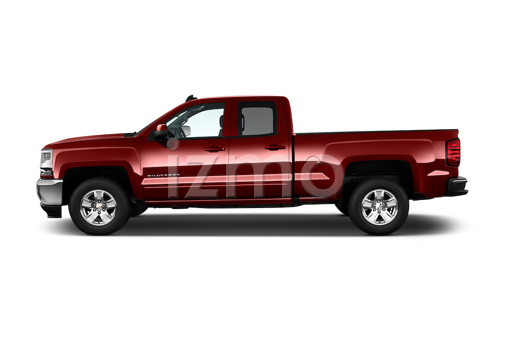Car Driver side profile view of a 2016 Chevrolet Silverado-1500 LT-Double-Cab-Std-Box 4 Door Pick-up Side View