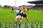 David Maloney Dr Crokes in action against John Ferguson Kerins O'Rahillys in the Semi Finals of the Senior County Football Championship at Austin Stack Park on Sunday.