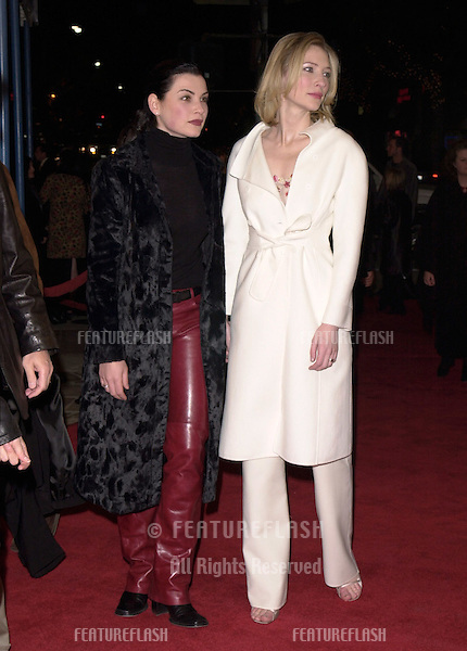 "12DEC99: Actresses CATE BLANCHETT & ""ER"" star JULIANNA MARGULIES at the Los Angeles premiere of Blanchett's new movie ""The Talented Mr. Ripley."".© Paul Smith / Featureflash"