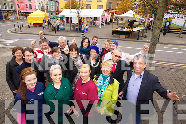 Listowel Traders getting in the Christmas Spirit in the Square in Listowel on Friday.