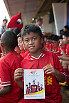 Warrior Football hold a coaching session with Robbie Fowler and young local footballers at the GBK Stadium training ground, on the second day of Liverpool FC's 2013/14 pre-season tour in Jakarta. Photo by Andy Jones / The Power of Sport Images for Warrior Football.