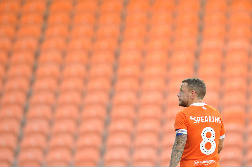 Blackpool's Jay Spearing<br /> <br /> Photographer Kevin Barnes/CameraSport<br /> <br /> Emirates FA Cup Second Round - Blackpool v Maidstone United - Sunday 1st December 2019 - Bloomfield Road - Blackpool<br />  <br /> World Copyright © 2019 CameraSport. All rights reserved. 43 Linden Ave. Countesthorpe. Leicester. England. LE8 5PG - Tel: +44 (0) 116 277 4147 - admin@camerasport.com - www.camerasport.com