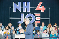 Former Secretary of State John Kerry speaks in support of Democratic presidential candidate and former Vice President Joe Biden at a Biden campaign event at The Sports Barn in Hampton, New Hampshire, on Sun., December 8, 2019.