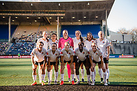 Seattle, WA - April 15th, 2017: Sky Blue FC Starting Eleven during a regular season National Women's Soccer League (NWSL) match between the Seattle Reign FC and Sky Blue FC at Memorial Stadium.