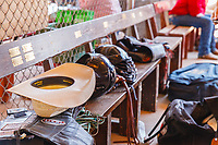 Usa,Wyoming, Cheyenne,riders cowboys equipment for the competitiion  at Frontier days 2017