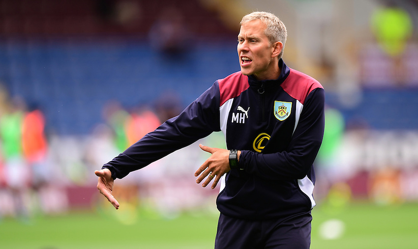 Burnley&rsquo;s head of sports science Mark Howard during the pre-match warm-up <br /> <br /> Photographer Chris Vaughan/CameraSport<br /> <br /> Football - The Premier League - Burnley v Swansea City - Saturday 13th August 2016 - Turf Moor - Burnley<br /> <br /> World Copyright &copy; 2016 CameraSport. All rights reserved. 43 Linden Ave. Countesthorpe. Leicester. England. LE8 5PG - Tel: +44 (0) 116 277 4147 - admin@camerasport.com - www.camerasport.com