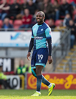 Myles Weston of Wycombe Wanderers during the Sky Bet League 2 match between Leyton Orient and Wycombe Wanderers at the Matchroom Stadium, London, England on 1 April 2017. Photo by Andy Rowland.